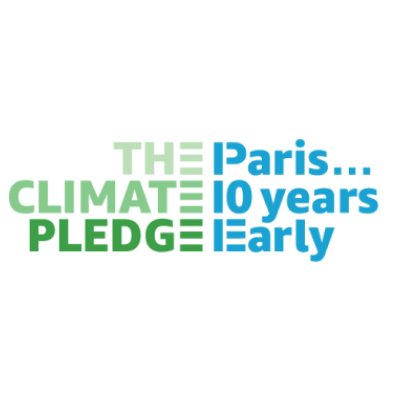 Logo for the Climate Pledge